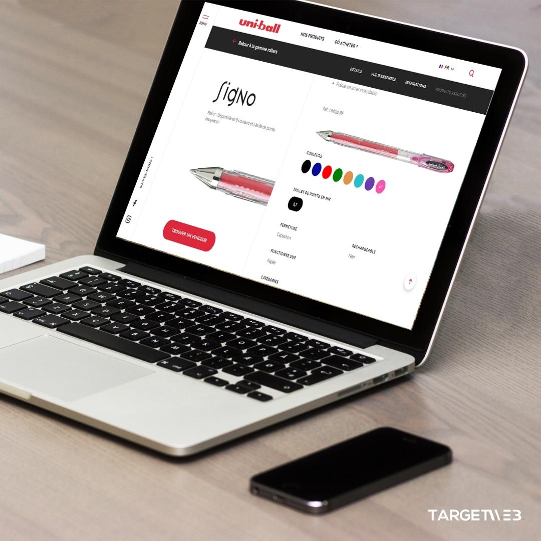 Projet de Création de site prestashop UniBall par Target Web
