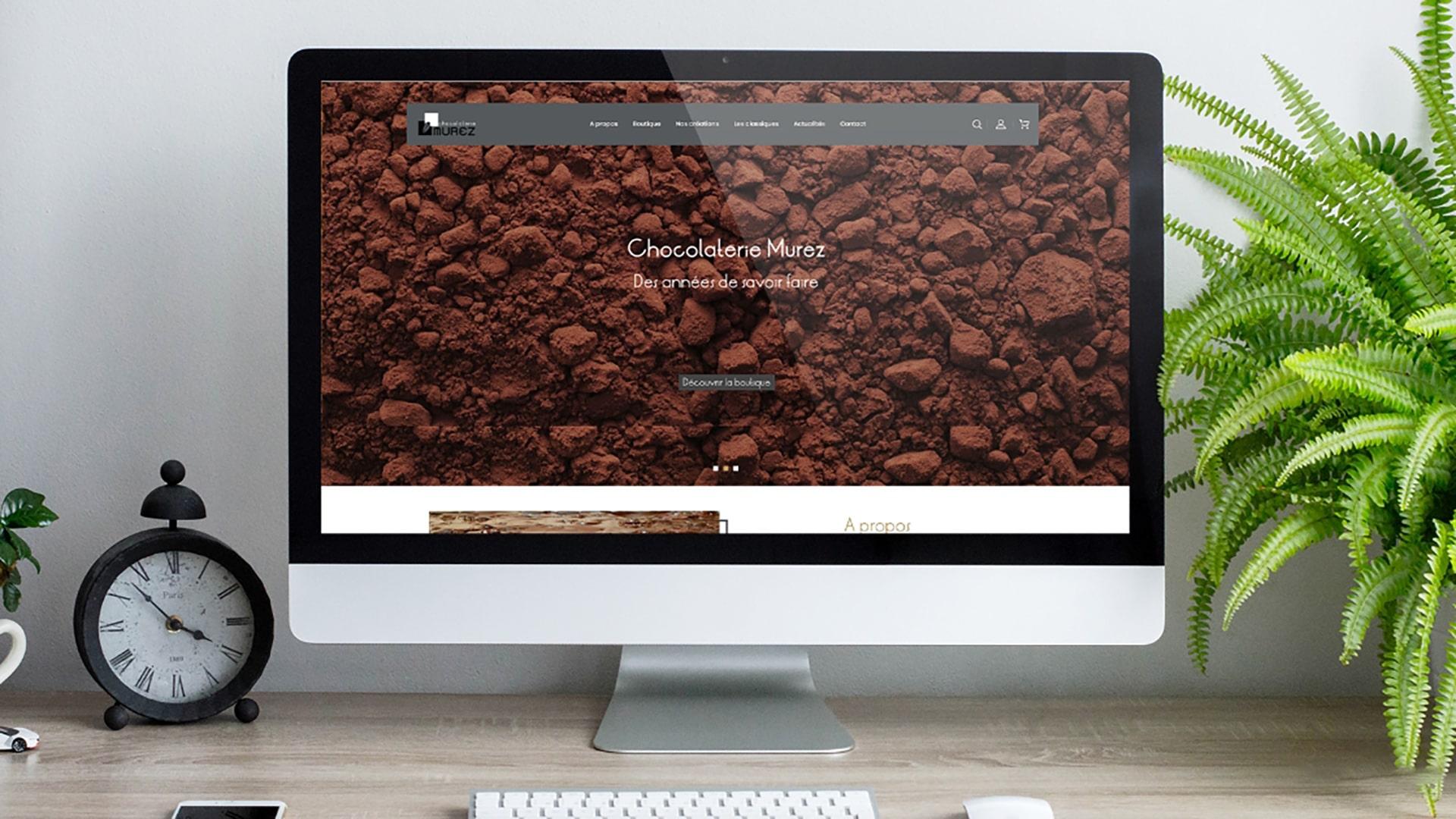 Projet de création de site web Prestashop Chocolaterie Murez